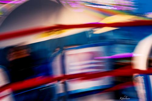 Abstract Tilt-a-Whirl by Kathy Thalman