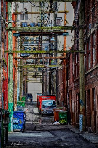 Alley in Vancouver by Kathy Thalman