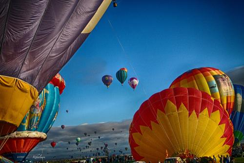 Balloons in New Mexico by Kathy Thalman