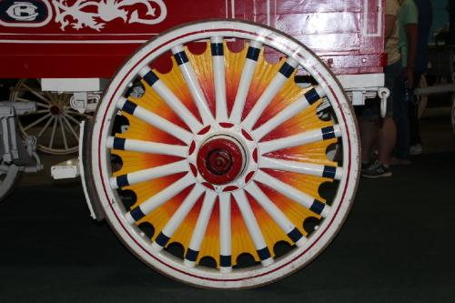 Circus Wagon Wheel by Clem Wehner