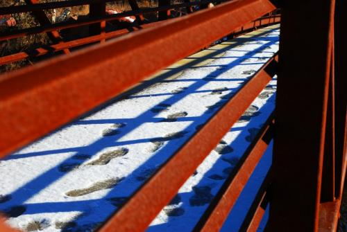 Footprints in the snow by Kim Jones Isaac