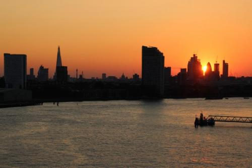 London on the Thames by Clem Wehner